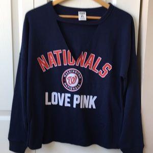 NWOT VS Pink Washington Nationals sweatshirt